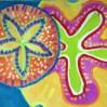 Sand Dollar Pattern Watercolor Resist
