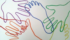 Foot and hand color wheel lesson