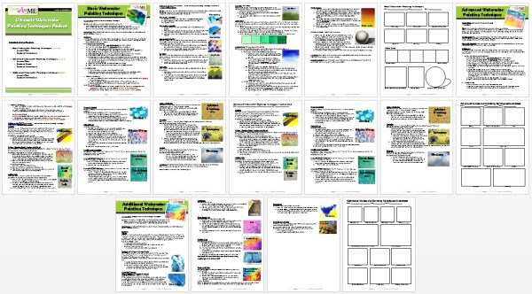 Ultimate Watercolor Lesson Packet