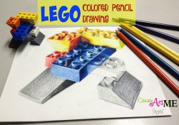 lego colored pencil drawing