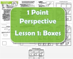 1 Point Perspective Lesson 1 Boxes