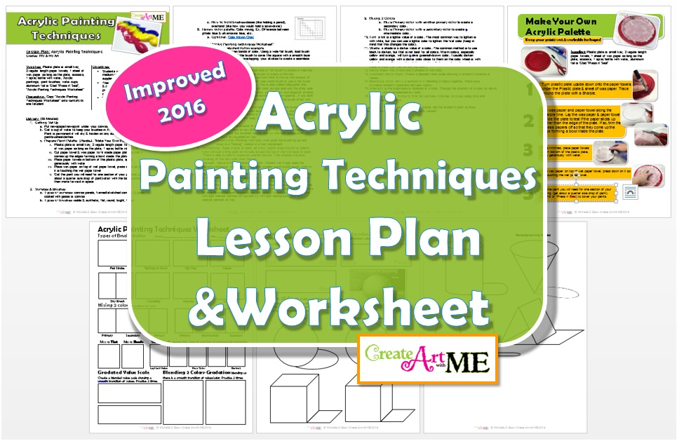 Acrylic Painting Techniques Lesson Plan Worksheet Create Art – Lesson Plan Worksheets