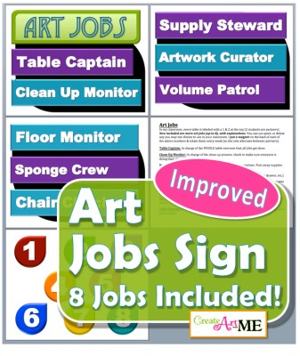 Art Jobs Printable Sign