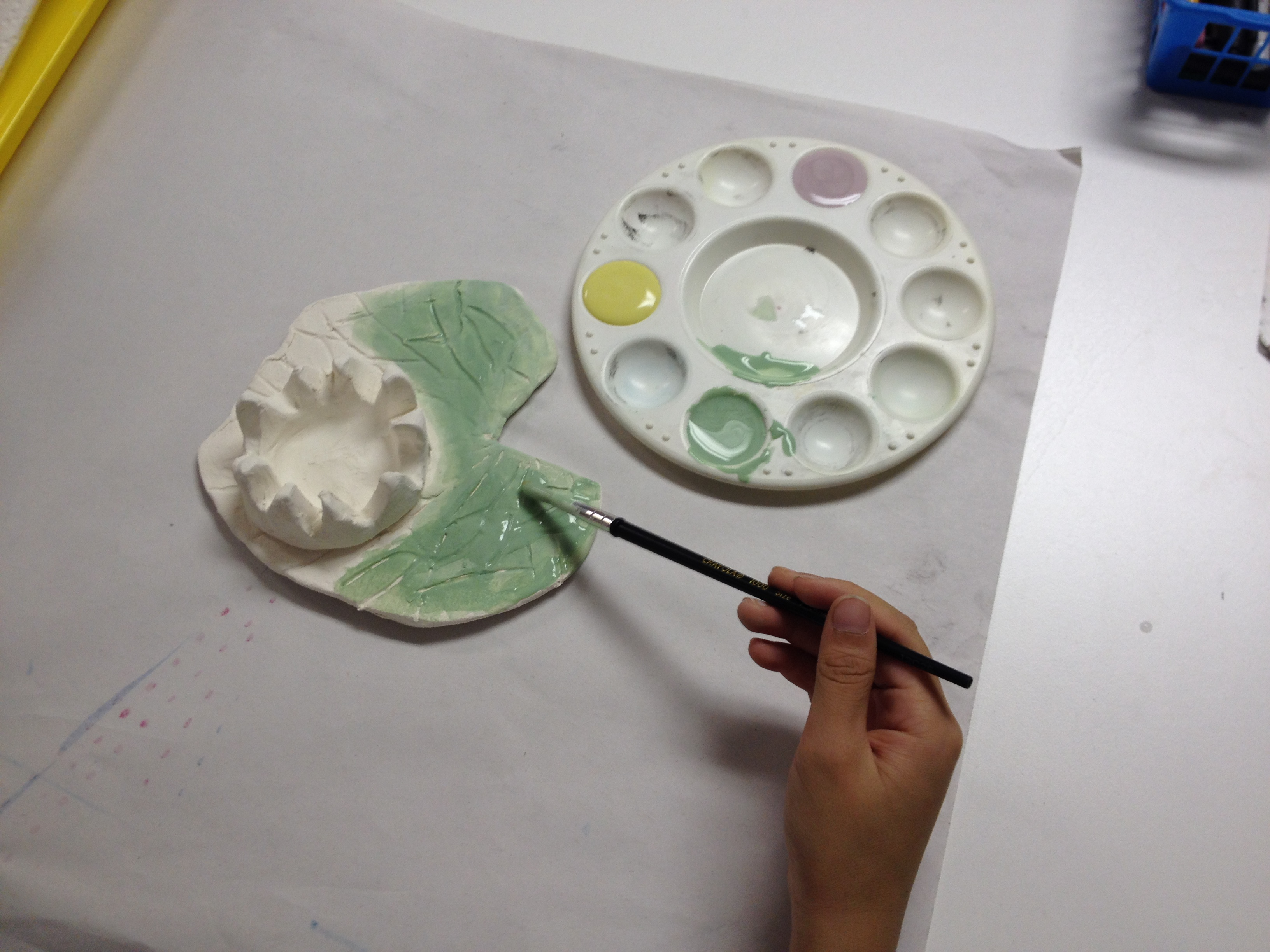 Lilypad Amp Flower Slab And Pinch Pot Clay Art Lesson