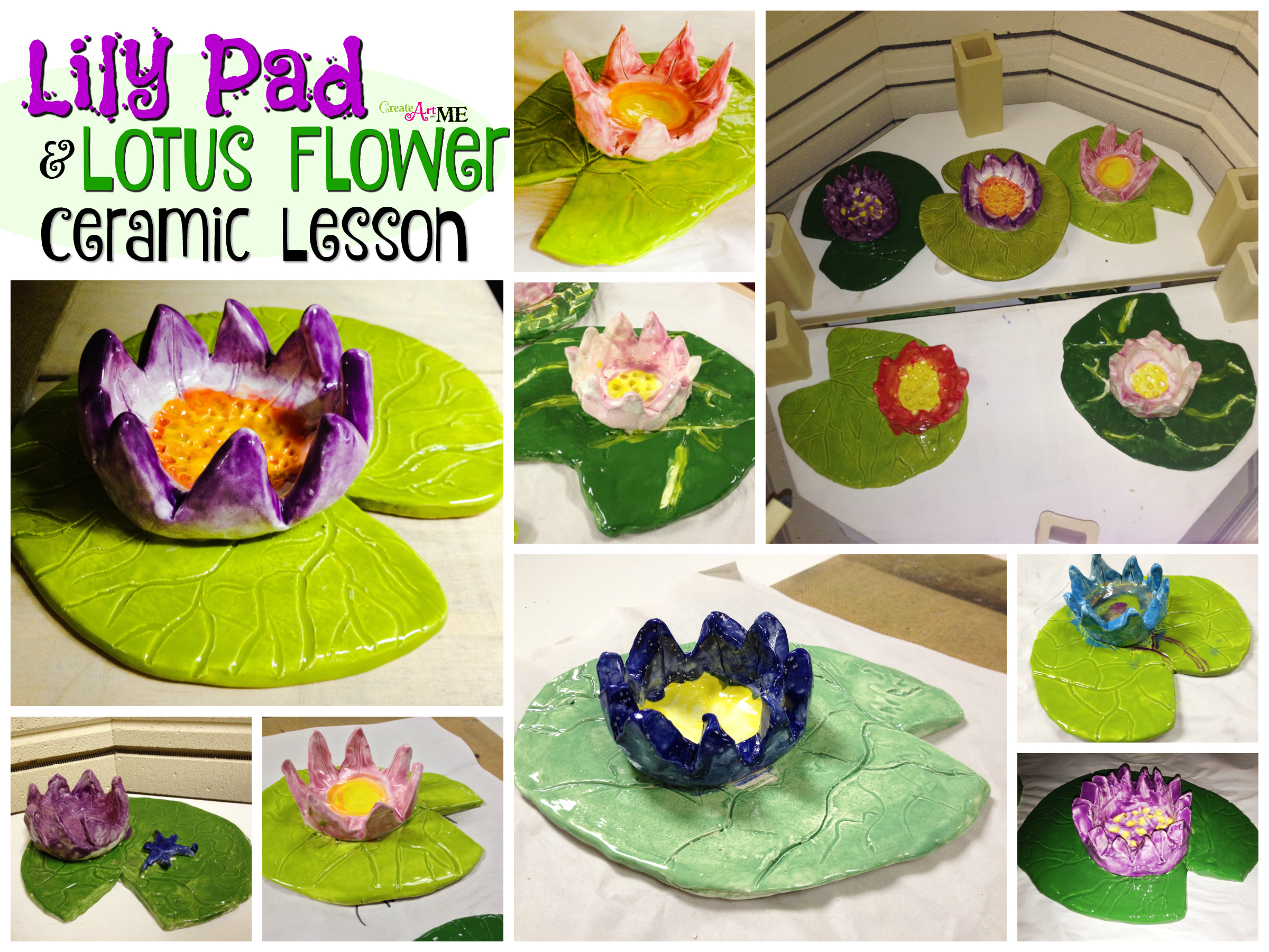 Lilypad Amp Lotus Flower Ceramics Lesson