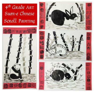 sumi-e chinese scroll art lesson