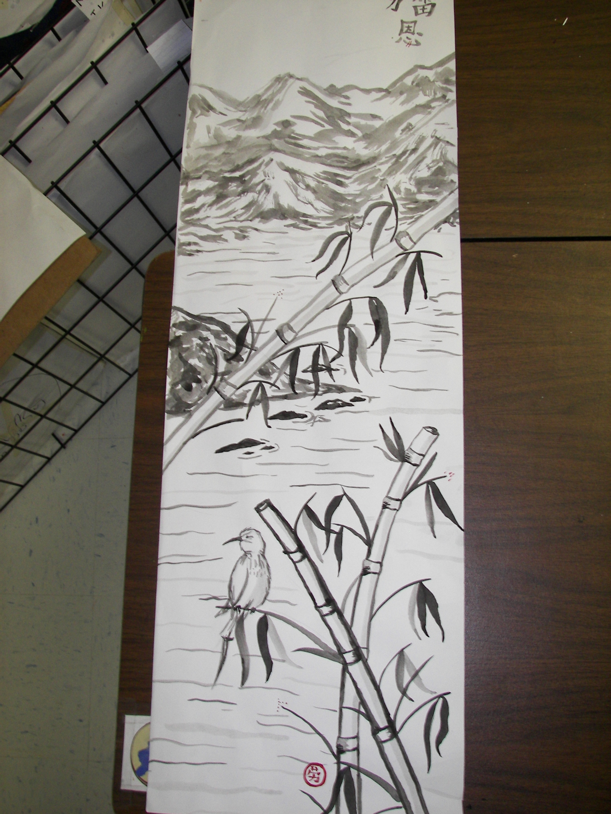 Sumi E Painting Scroll Project