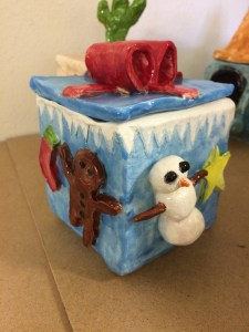 Ceramic Slab Box with theme art lesson for