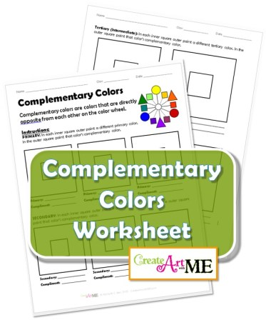 Complementary Colors Lesson Worksheet