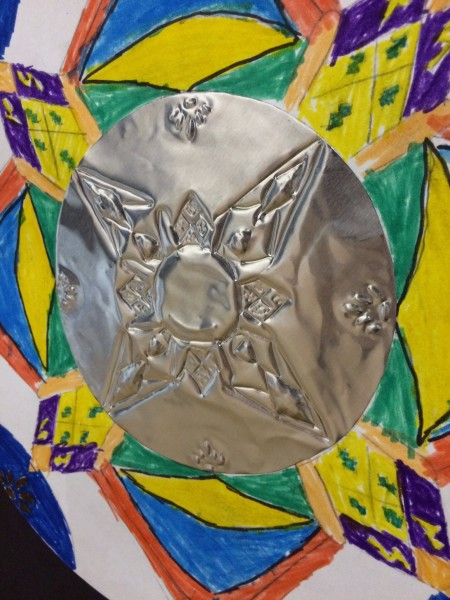 Talavera & Repousse Design art lesson