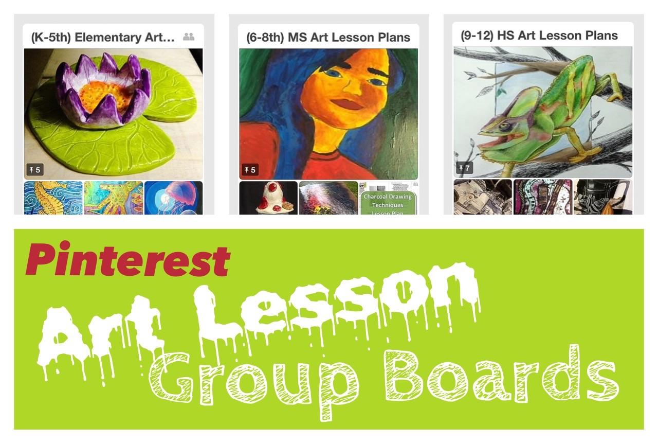 Join Pinterest Art Lesson Group Boards