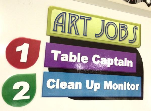 Art Jobs Printable Sign for the Art classroom