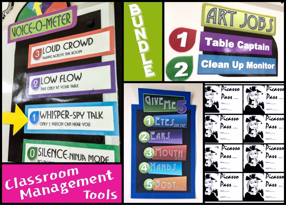 BUNDLED Art Classroom Management Tools