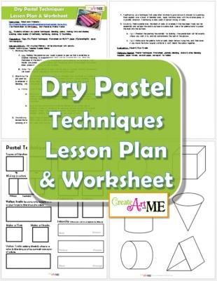 Dry Pastel Techniques Lesson Plan & Worksheet 2015