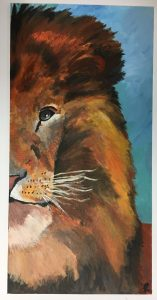 Dynamic Wild Animal Composition Acrylic Painting high school art lesson