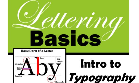 Intro to Typography Lettering Basics ARt lesson