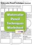 Watercolor Pencil Techniques Lesson Plan and worksheet
