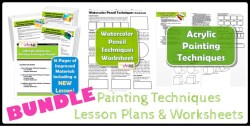 Bundled Painting Techniques Lesson plans and worksheets