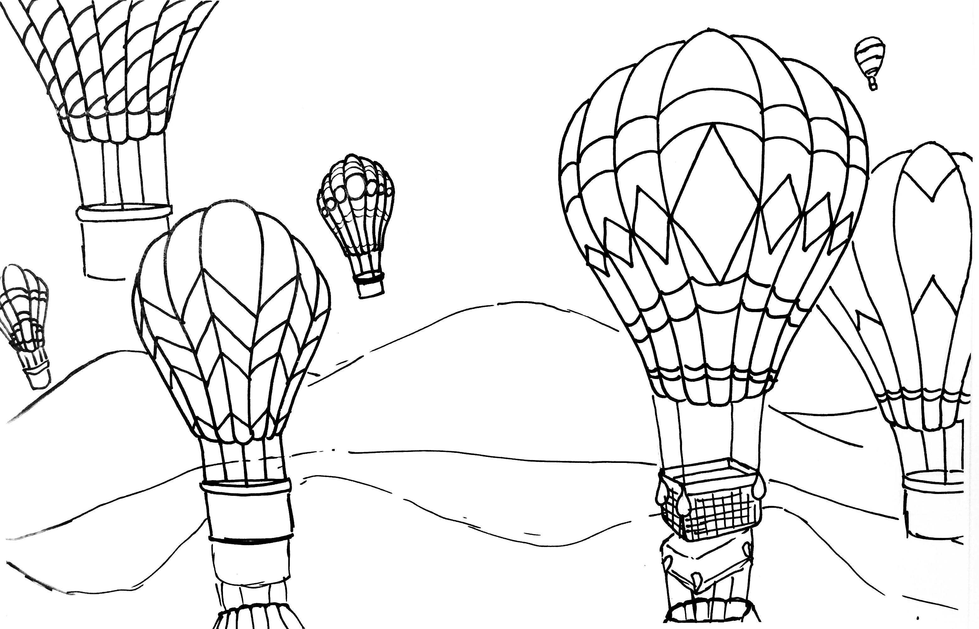 Hot Air Balloon Rhythm Pattern Amp Variety Watercolor Pencil Painting Lesson