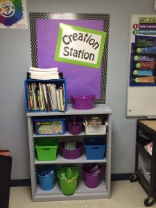 creation station Art Classroom Layout Organization