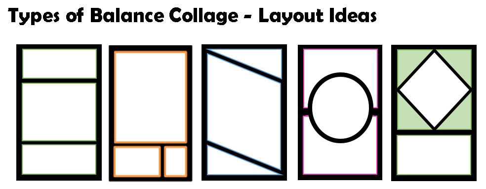 Types Of Balance Cut Paper Collage Art Project Create