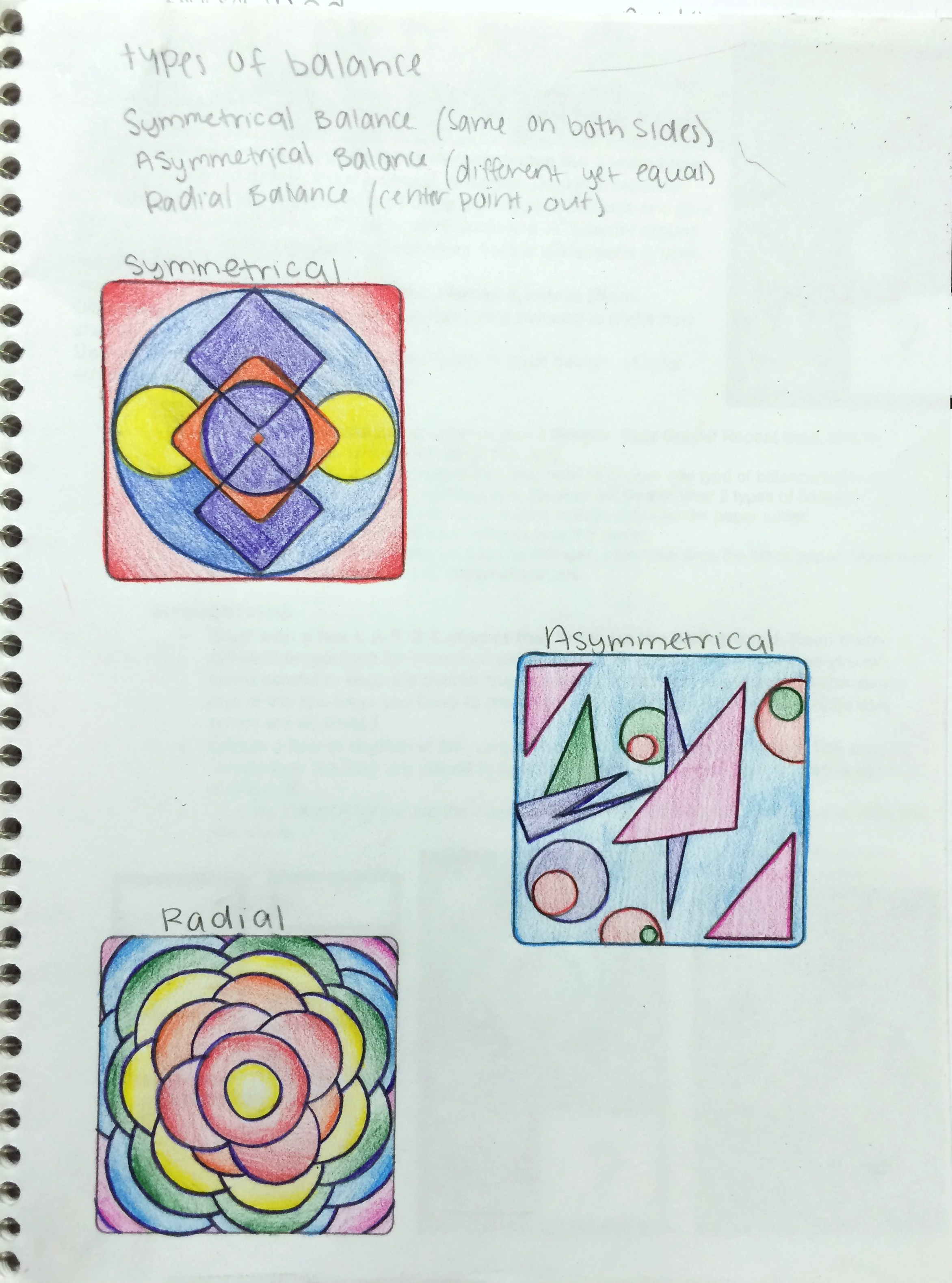 ... Types Of Balance Sketchbook Assignment