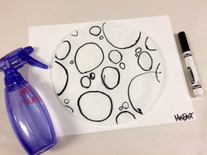 Coffee Filter and Marker Moon Art Lesson