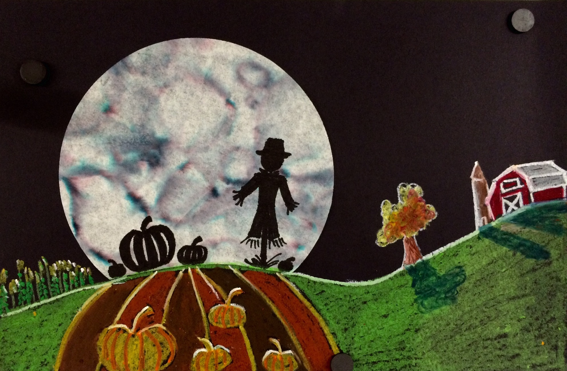 Marker And Coffee Filter Silhouette Art Lesson