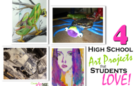 High School Art Projects that Students LOVE!