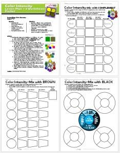 Color Intensity Lesson Plan & 3 Worksheets PACKET