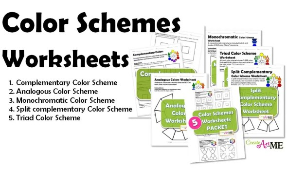 Types of Color Schemes Worksheets