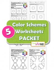 Color Schemes Worksheets PACKET BUNDLE