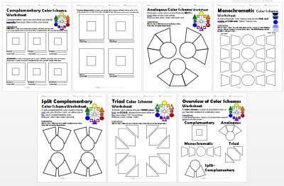 Color Schemes Worksheets PACKET