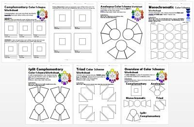 Color Schemes Worksheets PACKET