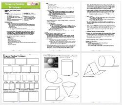 Tempera Painting Techniques Lesson Plan & Worksheet