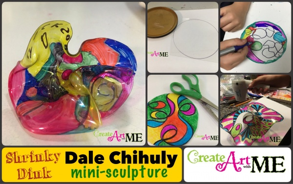 Dale Chihuly Shrinky Dink Mini-Sculptures