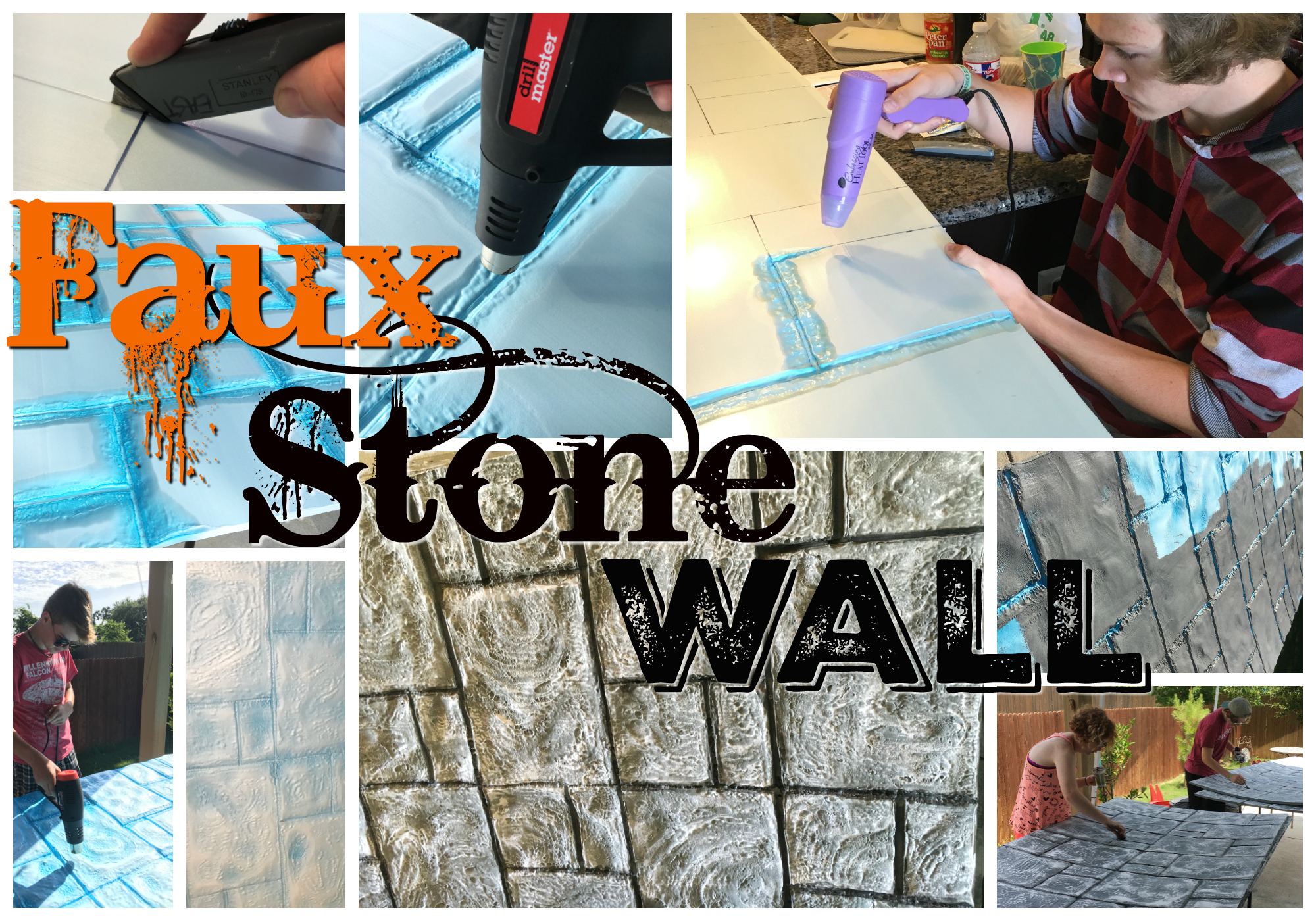Make a Faux Stone Wall Out of Insulation Foam - Create Art with ME