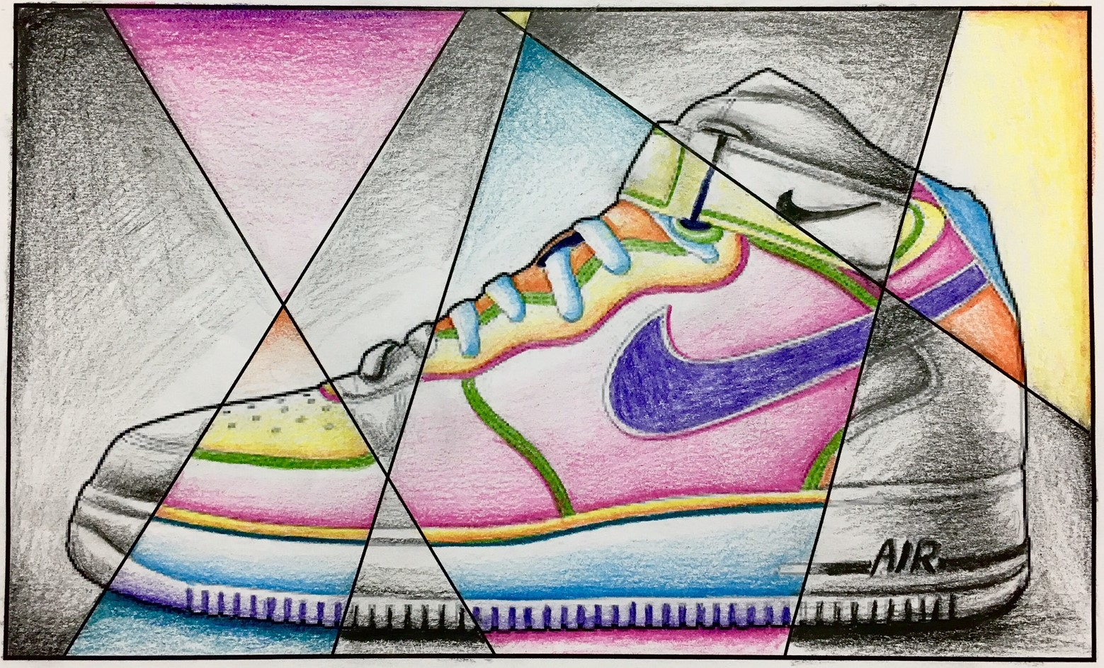 Abstract Shoe Value Drawing