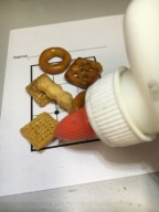 Chex Mix Cross-Hatching Drawing - Value Through Line
