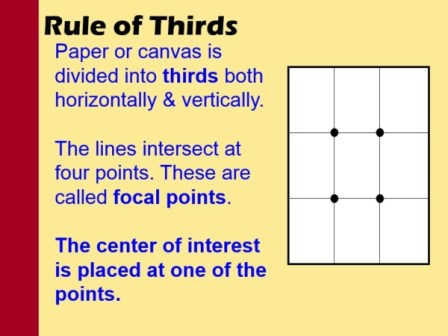 rule of thirds grid compositon
