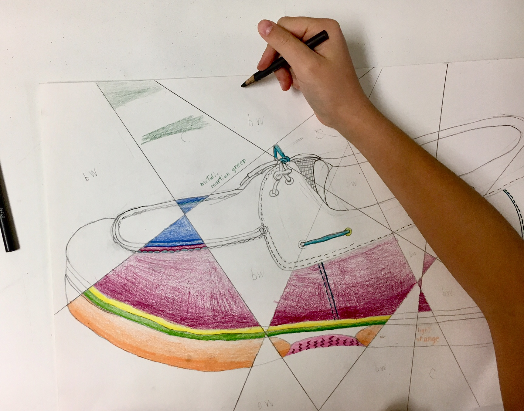 Contour Line Drawing Shoes Lesson Plan : Abstract shoe value drawing create art with me