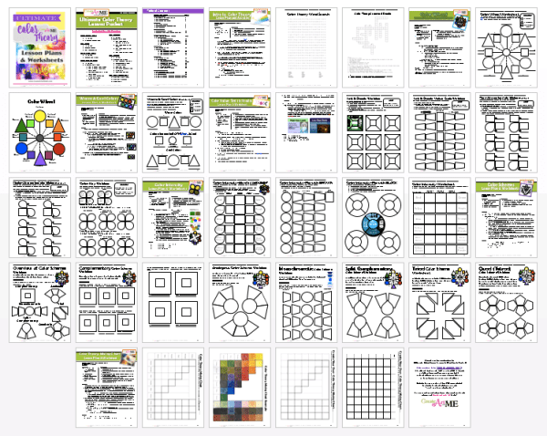 ultimate color theory lesson plan and worksheet e workbook