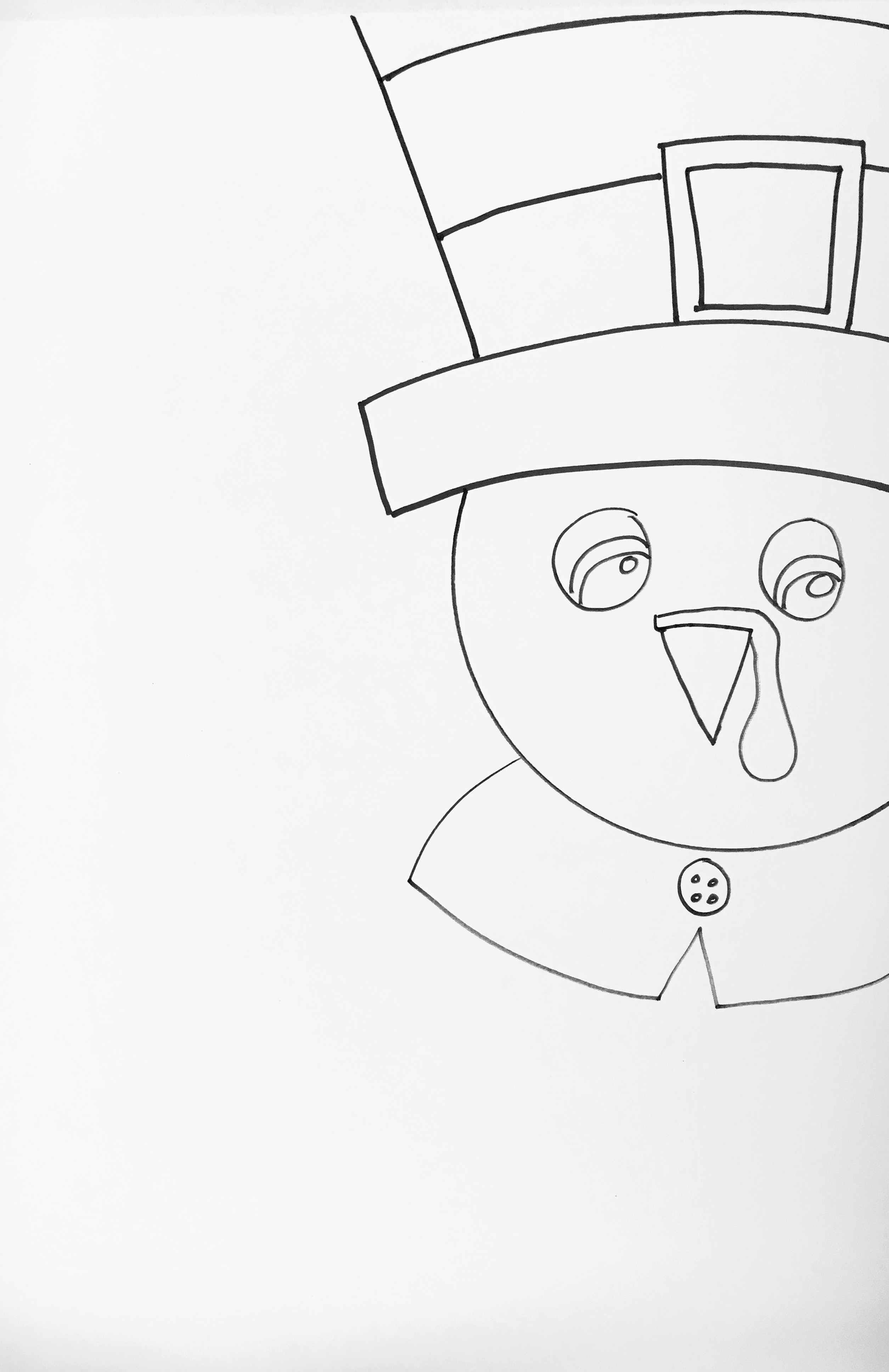 Thanksgiving Turkey Watercolor Pencil Art Project