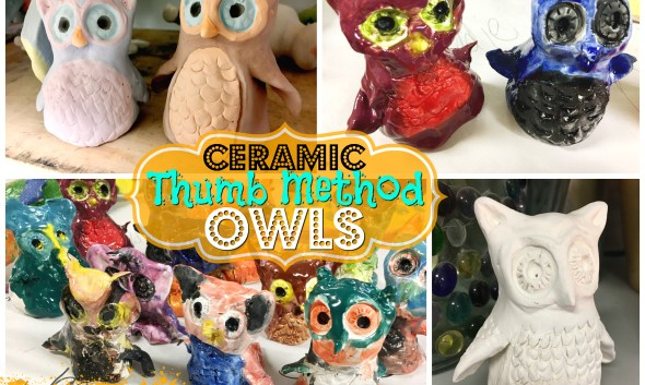 Ceramic Owls - Thumb Method Lesson
