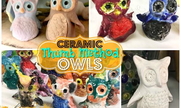 Ceramic Owls - Thumb Method Lesson