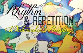 Rhythm Repetition Watercolor Painting Art lesson