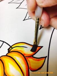 Van Gogh Marker Bleeding Sunflower art lesson