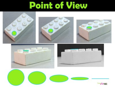Lego Point of View-Curve of Lines