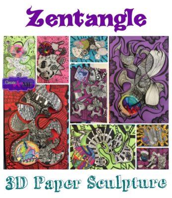 Zentangle Paper Sculpture