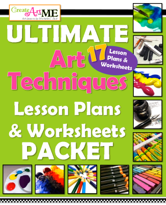 ULTIMATE Art Technique Lesson Plans & Worksheets PACKET
